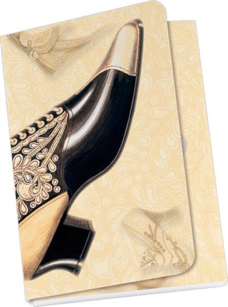 Taschennotizblöckchen 'Historische Schuhe - Schnürstiefelette'