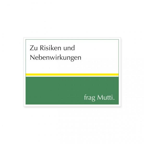 """Postkarte """"Zu Risiken und Nebenwirkungen"""""""